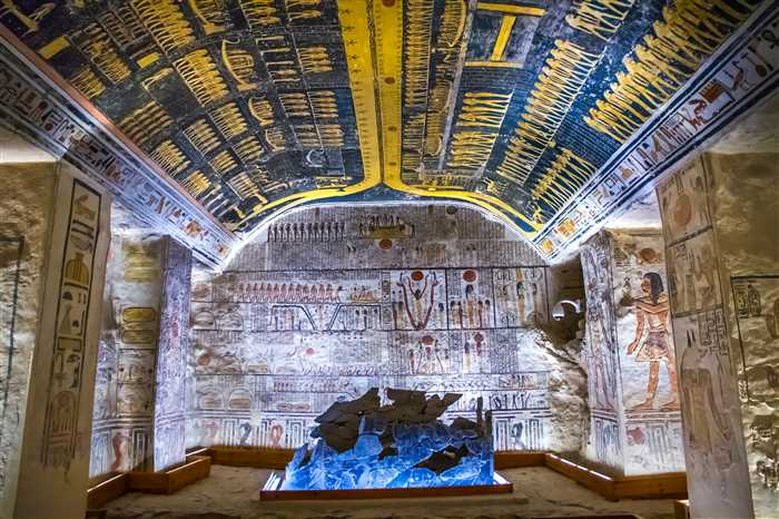 Hieroglyphics at Valley of the Kings, Luxor, Egypt.