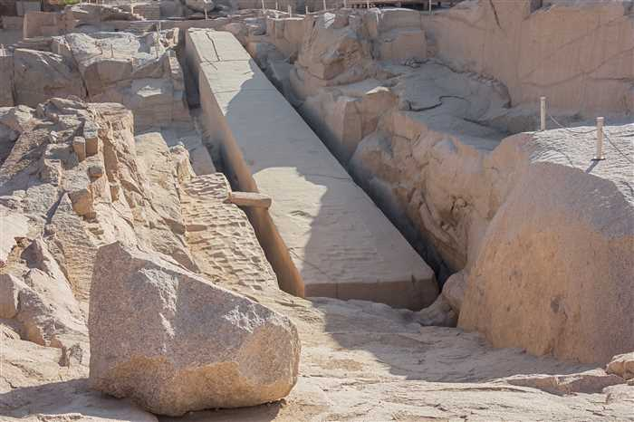 The Unfinished Obelisk, Aswan, Egypt