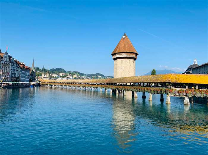 Lucerne lake and bridge