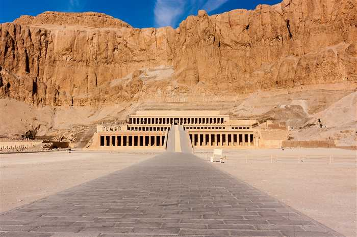 Temple of Queen Hatshepsut in Luxor, Egypt