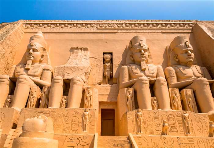 abu simbel in egypt as ancient Egypt's temple